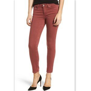 Paige Jeans Peg Skinny Rust Red